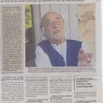 Article La Provence 1:  25 août